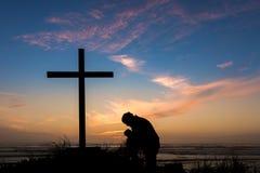 В глубокой молитве Стоковое Изображение