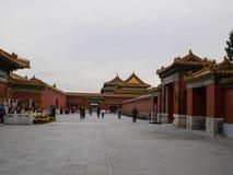 В запретном городе в Пекине Китае стоковые изображения rf