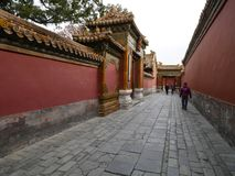 В запретном городе в Пекине Китае стоковая фотография