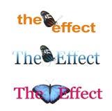 Влияние бабочки x 3 Стоковые Фотографии RF