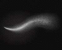 Влияние брызга воды, косметический белый туман или вектор аэрозоля freshener на прозрачной предпосылке иллюстрация штока