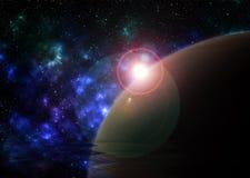 Влияние вселенной Стоковые Фотографии RF
