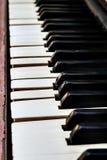 Влияние нерезкости перспективы конца-вверх кнопок рояля Стоковое Изображение