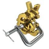 Понижаясь валюты влияя на другие валюты иллюстрация штока