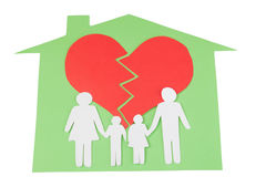 Влияние развода на концепции детей с руками Стоковые Изображения