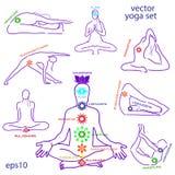 Влияние asanas для chakras Стоковые Изображения