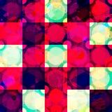 Влияние grunge картины красного диаманта безшовное Стоковые Фотографии RF