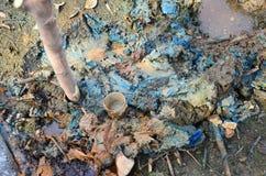 Влияния экологические от химикатов и тяжелых металов в почве Стоковые Фото