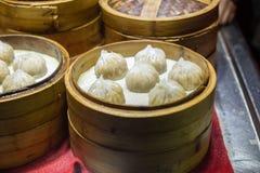 В Китае малая испаренная плюшка Стоковые Фото