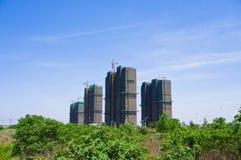 В конструкции многоэтажных зданий стоковое фото