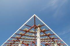 В крыше конструкции Стоковые Фото
