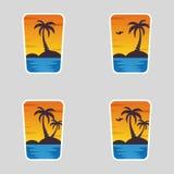 4 в логотипах 1, лето бесплатная иллюстрация