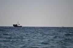 В море Стоковая Фотография