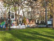 В натуральную величину дома пряника всплывающие в квадрате Madison паркуют Стоковое Изображение