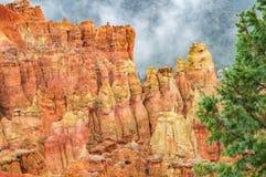 В национальном парке каньона Brice, Юта Стоковые Фотографии RF