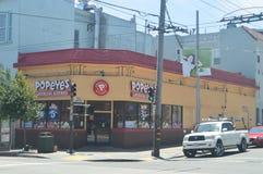В нашей прогулке через улицы Сан-Франциско мы находим этот типичный ресторан Lousiana Праздники Arquitecture перемещения стоковое фото