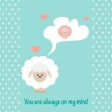 В овцах влюбленности иллюстрация штока