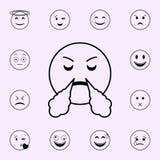 в ожидании значок победы Набор значков Emoji всеобщий для сети и черни иллюстрация штока