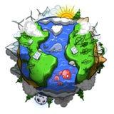 в отношении к окружающей среде содружественная планета Стоковые Изображения RF