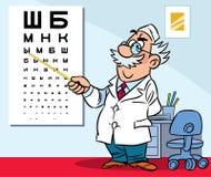 В офисе офтальмолога Стоковое фото RF