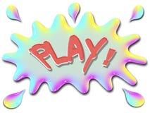 Вдохновляющая игра серии иллюстрации с выплеском Стоковое Изображение RF
