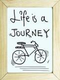 Вдохновляющая предпосылка плаката цитаты приключения путешествием перемещения Стоковое Изображение