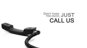 Вдохновляющая цитата и телефонная трубка Стоковое Фото