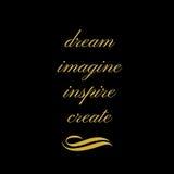 Вдохновляющая цитата: Мечтайте, представьте, воодушевите, создайтесь бесплатная иллюстрация