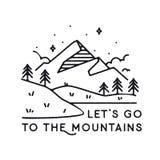 Вдохновляющие горы иллюстрации вектора Стоковые Фото