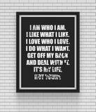 Вдохновляющий и мотивационный плакат цитат Стоковые Фото
