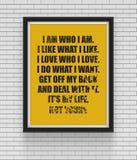 Вдохновляющий и мотивационный плакат цитат Стоковая Фотография RF