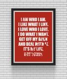 Вдохновляющий и мотивационный плакат цитат Стоковые Изображения