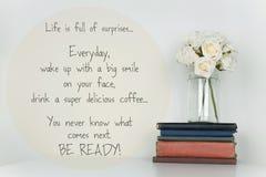 Вдохновляющий плакат дизайна цитаты жизни Стоковая Фотография