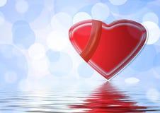вдоль предпосылки цвет пропустил сердца гребет плавно Валентайн Стоковое Фото
