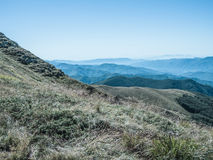 Вдоль пути к саммиту горы Стоковые Изображения