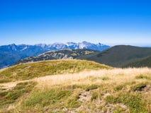 Вдоль пути к саммиту горы Стоковая Фотография