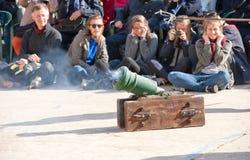 В параде Guardia Стоковые Фотографии RF