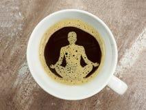 В пене кофе символ здоровья Стоковые Фото