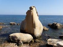 В пляже северного Танжера стоковая фотография rf
