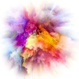 В поисках взрыва выплеска цвета стоковое изображение rf