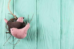 2 в птицах влюбленности в гнезде Стоковое фото RF