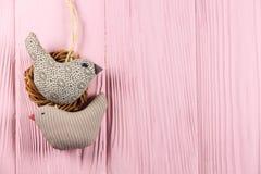 2 в птицах влюбленности в гнезде Стоковое Изображение RF
