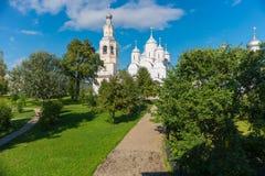 В саде монастыря Стоковое Изображение
