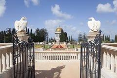 Сады Bahai, Хайфа, Израиль Стоковая Фотография