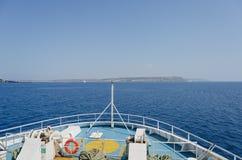 В смычке корабля Стоковые Изображения