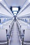 В современном поезде Стоковые Изображения