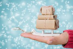 В срок концепция поставки рождества Стоковые Фото