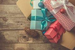 В срок концепция поставки рождества Стоковое Изображение