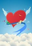 в стиле фанк красный цвет сердца Стоковое фото RF