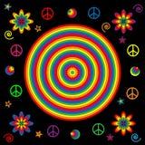 в стиле фанк радуга икон Стоковое Изображение RF